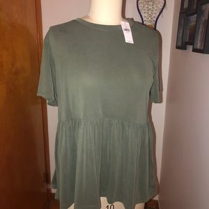 🎃2 for $35   Army Green Blouse